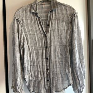 Grey Free People Flannel